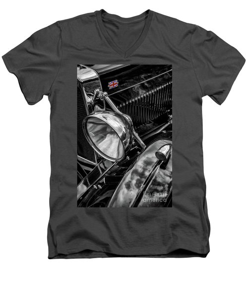 Men's V-Neck T-Shirt featuring the photograph Classic Britsh Mg by Adrian Evans