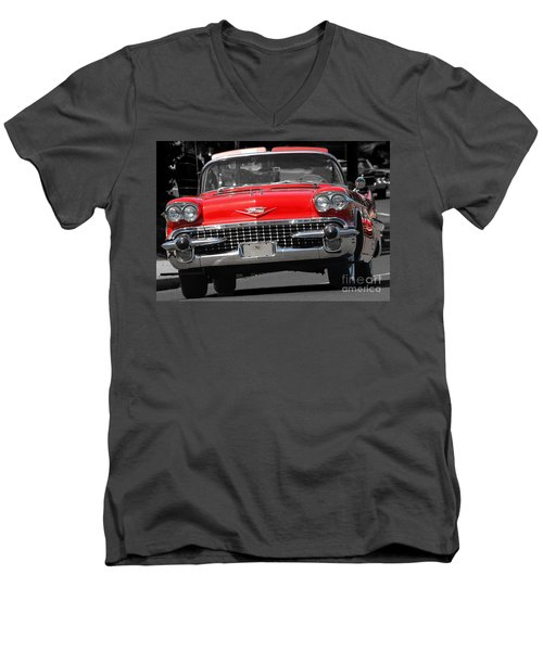 Classic Car Men's V-Neck T-Shirt by Raymond Earley