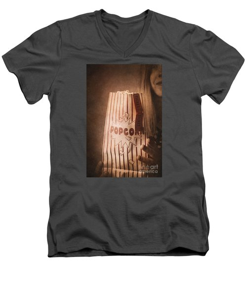 Men's V-Neck T-Shirt featuring the photograph Classic Hollywood Flicks by Jorgo Photography - Wall Art Gallery