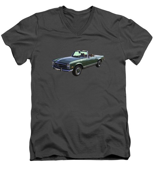 Classic Mercedes Benz 280 Sl Convertible Automobile Men's V-Neck T-Shirt by Keith Webber Jr