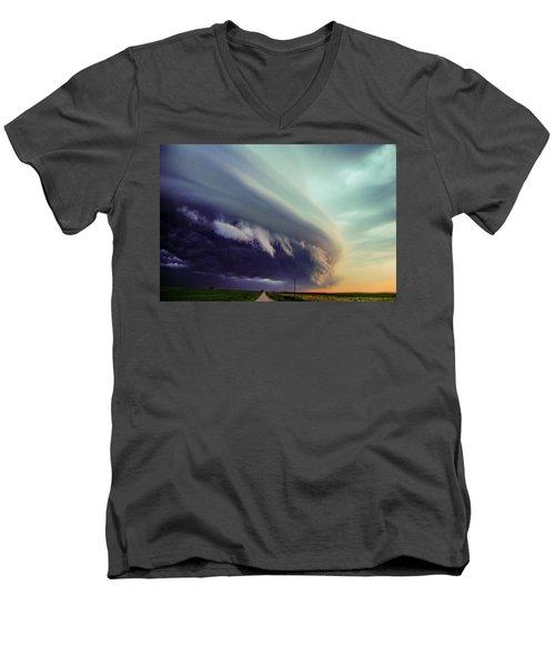 Classic Nebraska Shelf Cloud 027 Men's V-Neck T-Shirt