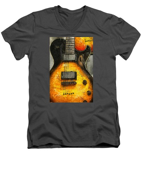 Classic Rock Men's V-Neck T-Shirt by Brian Davis