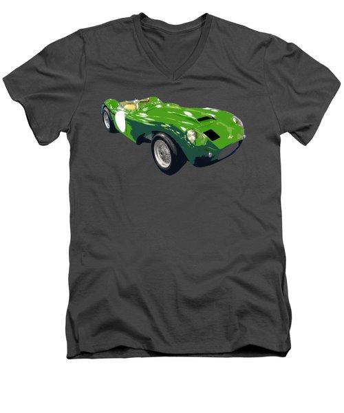 Classic Sports Green Art Men's V-Neck T-Shirt
