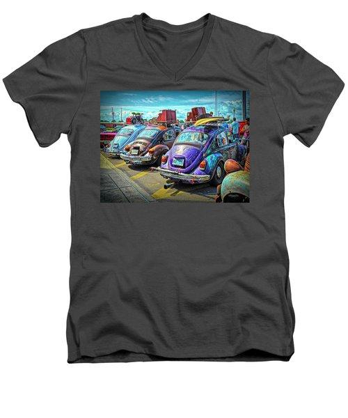 Classic Volkswagen Beetle - Old Vw Bug Men's V-Neck T-Shirt