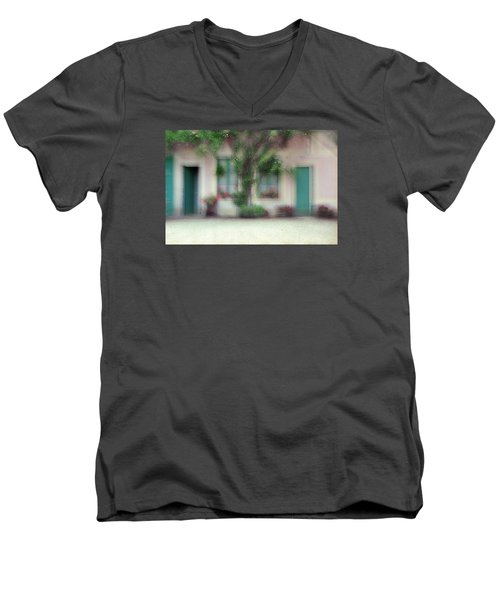 Men's V-Neck T-Shirt featuring the photograph At Claude Monet's Neighborhood by Dubi Roman