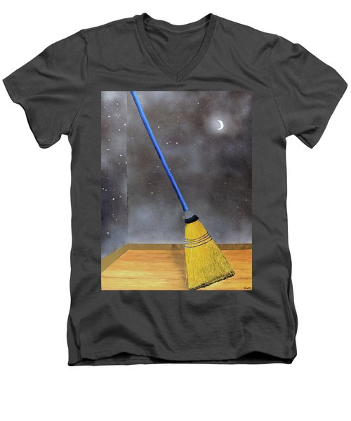 Cleaning Out The Universe Men's V-Neck T-Shirt by Thomas Blood
