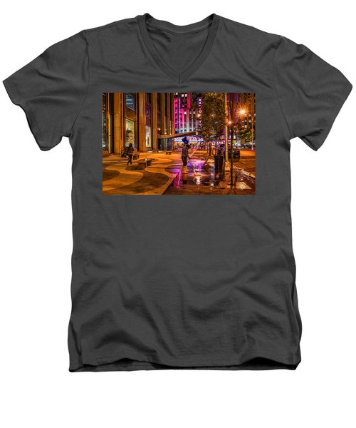 Cleaning With Neon Men's V-Neck T-Shirt