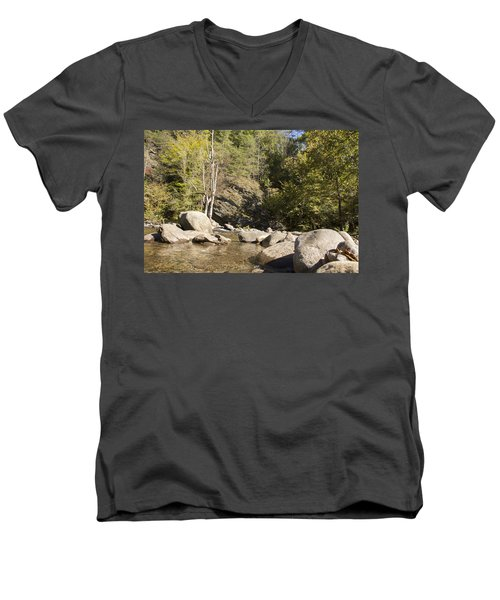 Clear Water Stream Men's V-Neck T-Shirt by Ricky Dean