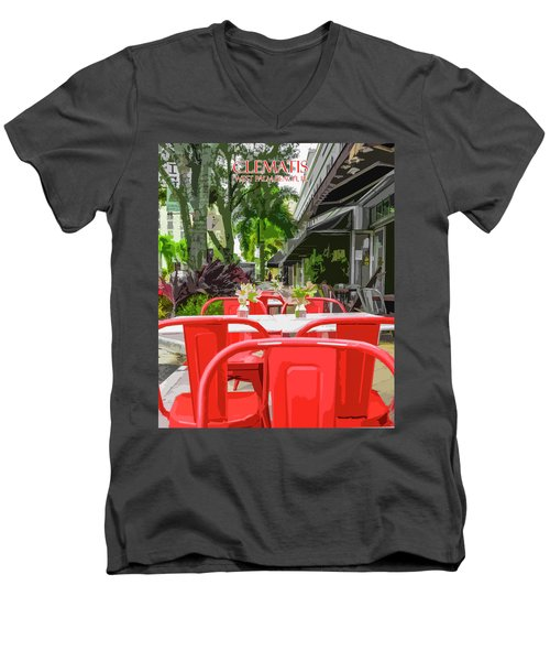 Clematis By Day Men's V-Neck T-Shirt by Josy Cue