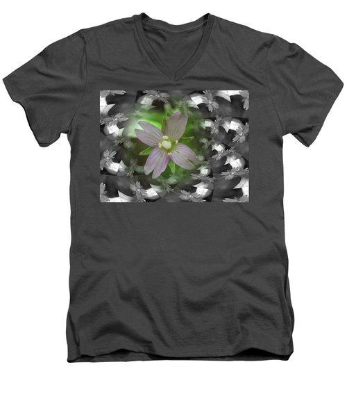 Men's V-Neck T-Shirt featuring the photograph Clematis by Keith Elliott