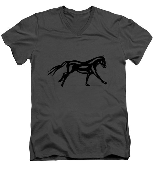 Clementine - Abstract Horse Men's V-Neck T-Shirt