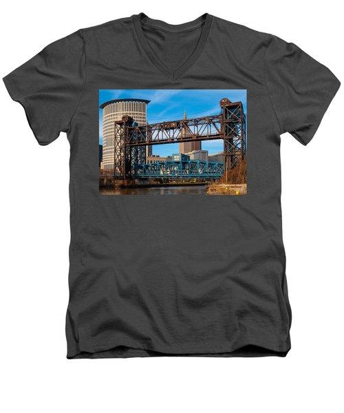 Cleveland City Of Bridges Men's V-Neck T-Shirt
