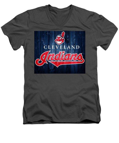 Cleveland Indians Barn Door Men's V-Neck T-Shirt