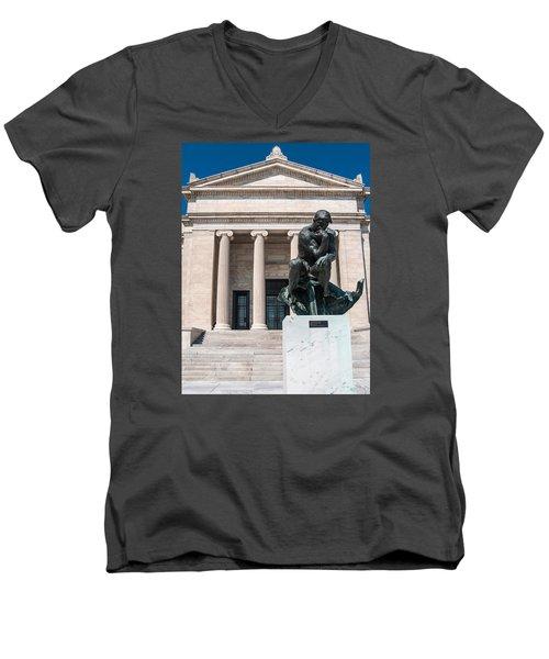 Cleveland Museum Of Art, The Thinker Men's V-Neck T-Shirt