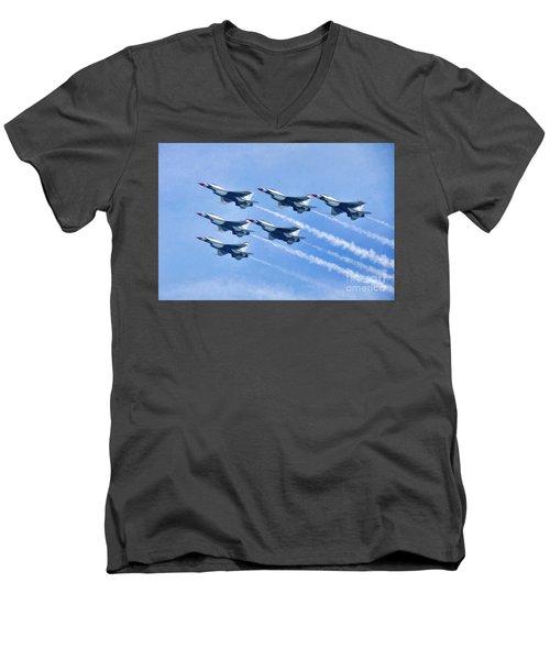Cleveland National Air Show - Air Force Thunderbirds - 1 Men's V-Neck T-Shirt