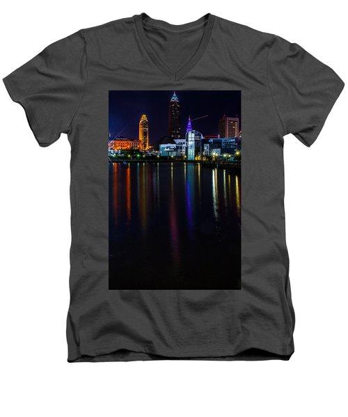Cleveland Nightly Reflections Men's V-Neck T-Shirt