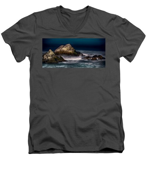 Men's V-Neck T-Shirt featuring the photograph Cliff House San Francisco Seal Rock by Steve Siri