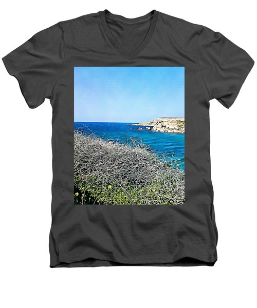 Cliff  Men's V-Neck T-Shirt