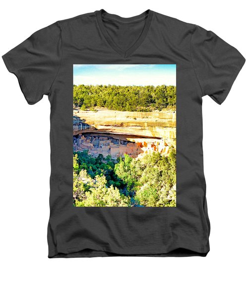 Cliff Palace Study 1 Men's V-Neck T-Shirt