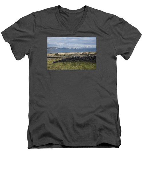 Cliffs Of Moher From Inisheer Men's V-Neck T-Shirt