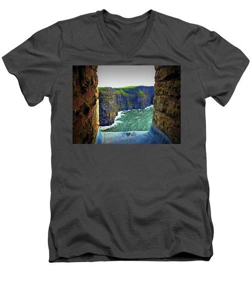 Cliffs Personalized Men's V-Neck T-Shirt