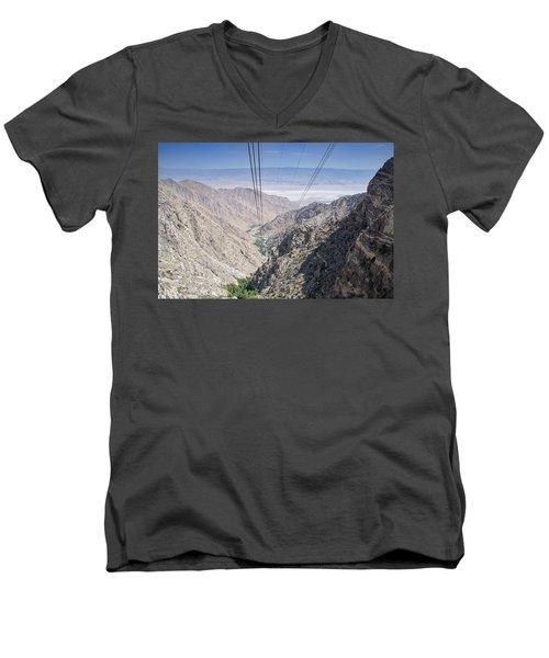 Climbing Mount San Jacinto Men's V-Neck T-Shirt
