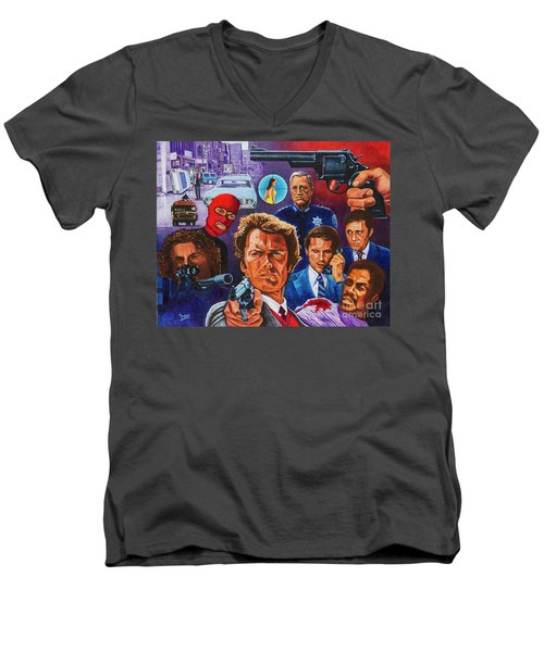 Clint Men's V-Neck T-Shirt by Michael Frank