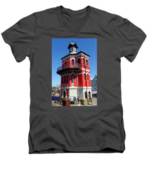 Clock Tower Cape Town Men's V-Neck T-Shirt by John Potts