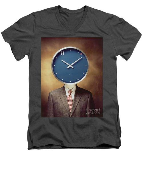 Clockhead Men's V-Neck T-Shirt