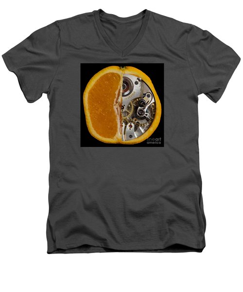 Men's V-Neck T-Shirt featuring the photograph Clockwork Orange by Brian Roscorla