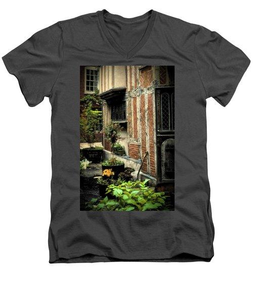 Cloister Garden - Cirencester, England Men's V-Neck T-Shirt