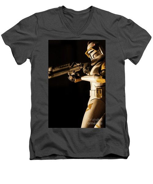 Men's V-Neck T-Shirt featuring the photograph Clone Trooper 6  by Micah May