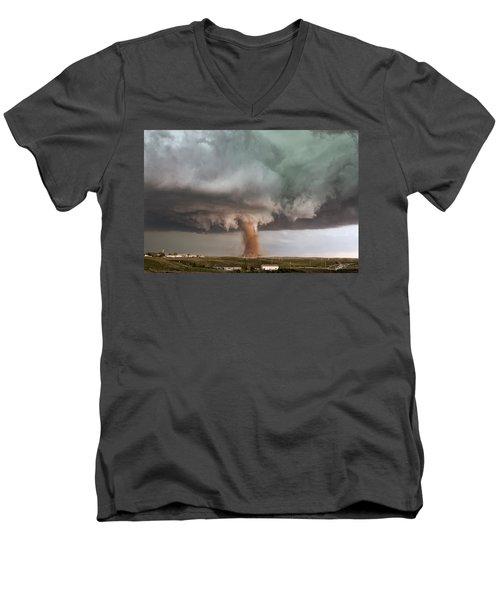 Close Call Men's V-Neck T-Shirt
