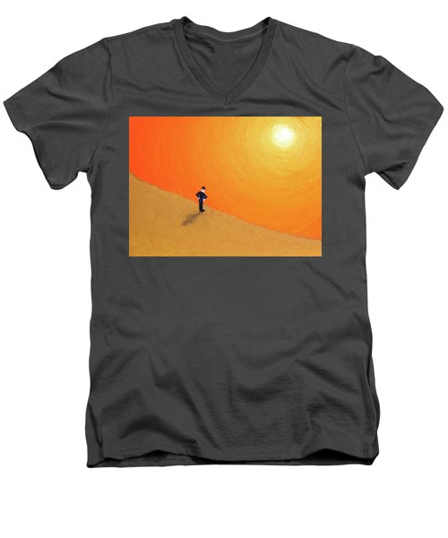 Close To The Edge Men's V-Neck T-Shirt by Thomas Blood