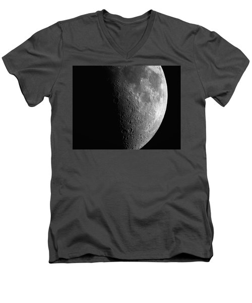 Close-up Of Moon Men's V-Neck T-Shirt
