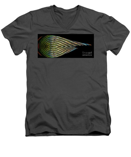 Men's V-Neck T-Shirt featuring the digital art Closed Eye by Wendy Wilton