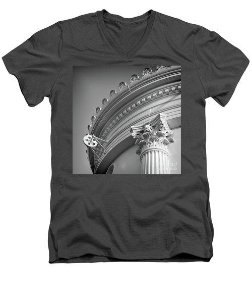 Closeup Of Lighthouse  -58750 Men's V-Neck T-Shirt by John Bald