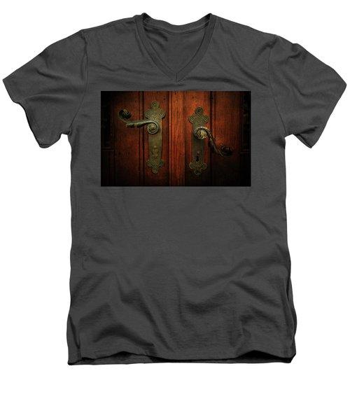 Closeup Of Two Ornamented Handles Men's V-Neck T-Shirt by Jaroslaw Blaminsky