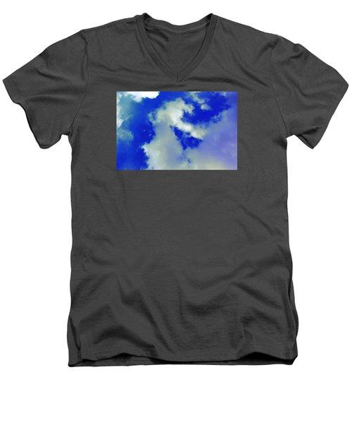 Cloud 1 Men's V-Neck T-Shirt by M Diane Bonaparte