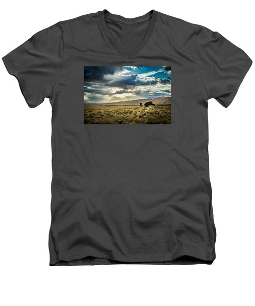 Cloud Break Over Sand Dunes Men's V-Neck T-Shirt