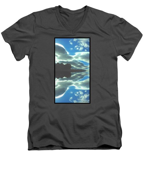 Cloud Drama Reflections Men's V-Neck T-Shirt by Anastasia Savage Ealy