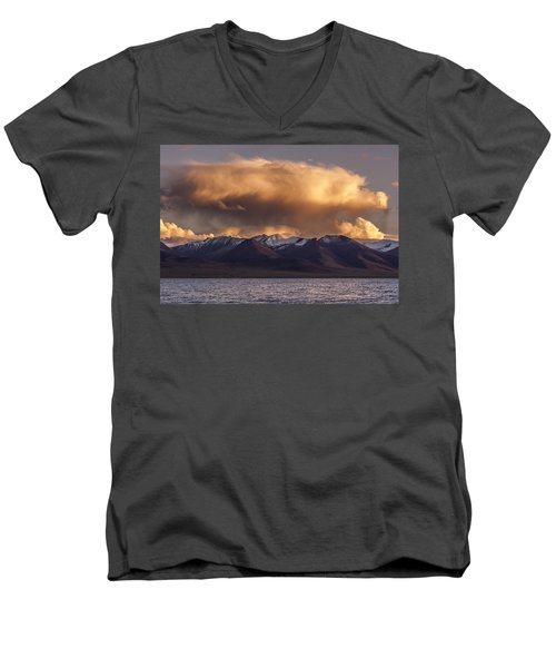 Cloud Over Namtso Men's V-Neck T-Shirt