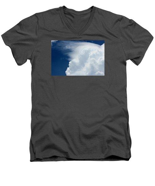Cloud Swept Men's V-Neck T-Shirt by Jewels Blake Hamrick