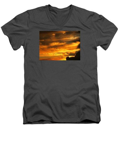 Clouded Sunset Men's V-Neck T-Shirt