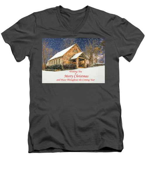 Cloudland Presbyterian Church  Men's V-Neck T-Shirt