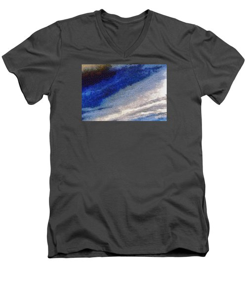 Men's V-Neck T-Shirt featuring the photograph Clouds 10 by Spyder Webb