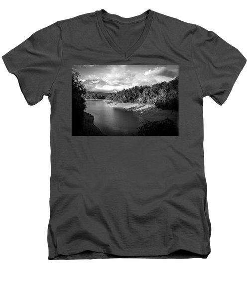 Clouds Above The Nantahala River In Nc Men's V-Neck T-Shirt