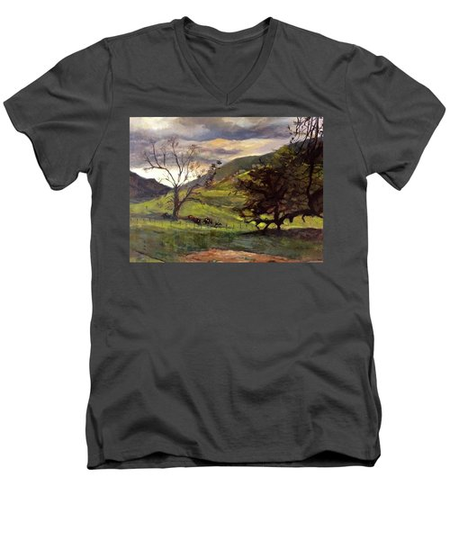 Clouds And Cattle Men's V-Neck T-Shirt