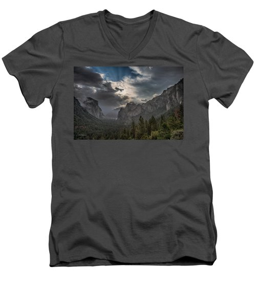 Clouds And Light Men's V-Neck T-Shirt by Bill Roberts