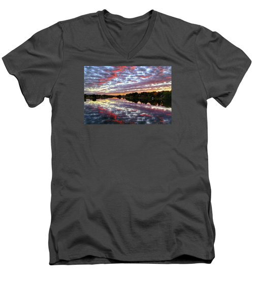 Men's V-Neck T-Shirt featuring the photograph Clouds And More by Lynn Hopwood